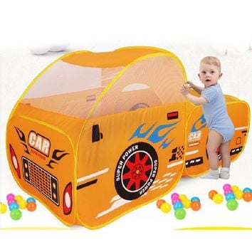 Foldable Kids Outdoor Toy Play Tent Children Ocean Ball Pool Pit Game Play House Boys Girls Cute Car Model Play Tents for Kids