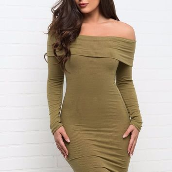 Cameryn Dress - Olive