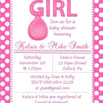 10 It's A Girl Baby Shower Invitations