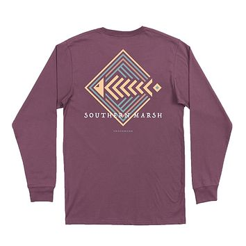 Long Sleeve Aztec Catch Tee by Southern Marsh