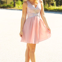 RESTOCK: MINUET: Passport To Paris Dress: Pink
