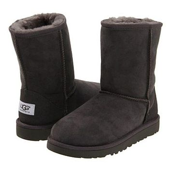 UGG Trending Women Men Casual Winter Warm Snow Boots Shoe Grey I-1