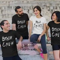 Hello Thirty Birthday Party Shirts! Birthday Crew Shirts for a group party, Personalized birthday celebration shirts