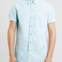 Mint Green Palm Design Shirt - TOPMAN USA