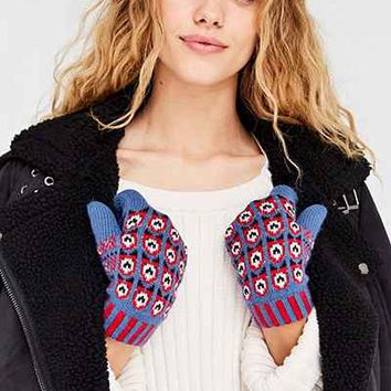 Owl Eyes Plush Glove - Urban Outfitters