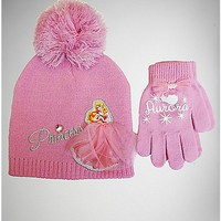 Aurora Disney Princess Baby/Toddler Hat Glove Set - Spencer's