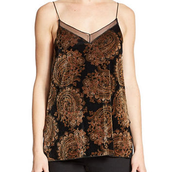 Free People Printed Velvet Tank