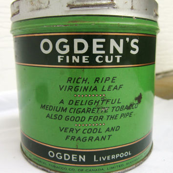 Vintage Tobacco Tin Ogdens Tobacco Rare Collectible Advertising Memorabilia