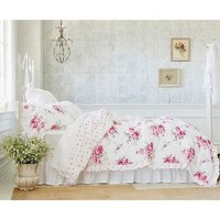 Sunbleached Floral Comforter Set (King) Pink 3pc - Simply Shabby Chic™