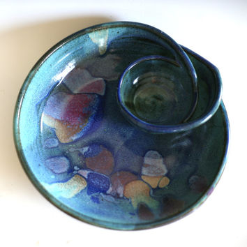 DISCOUNTED Chip and Dip, handmade ceramic dish, ceramics and pottery, serving, pottery bowl