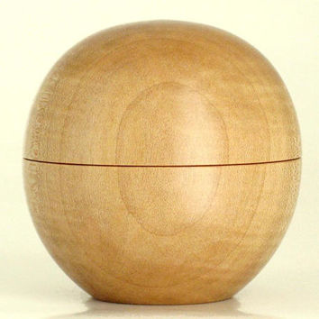 Tiny Sphere Box Handcrafted in Figured Maple with Magnetic Lid