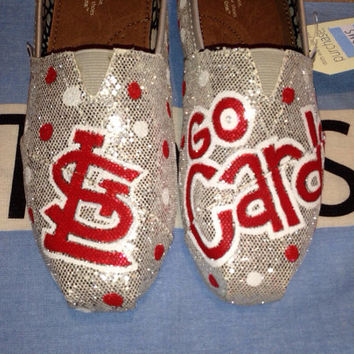 The Cardinals - Inspired Custom TOMS Shoes