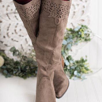 Somebody Else Not Rated Cutout Boots (Taupe)