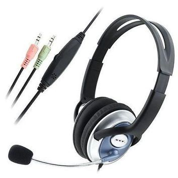 EforCity VOIP/SKYPE Gaming Handsfree Stereo Headset with Microphone