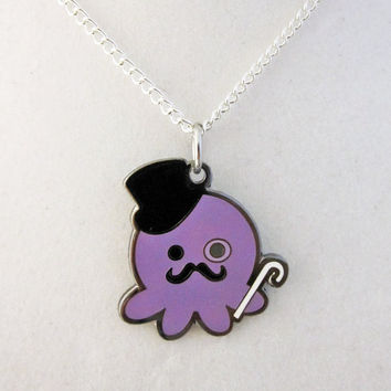 Deluxe Metal Gentleman Octopus Necklace by egyptianruin on Etsy