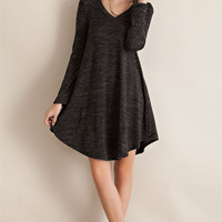 Two Tone Swing Dress - Charcoal
