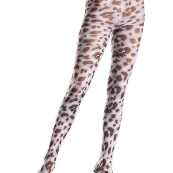 Be Wicked BW684 Sheer animal print pantyhose
