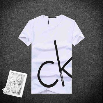 ICIK272 Trendsetter CALVIN KLEIN Women Man Fashion Print Sport Shirt Top Tee