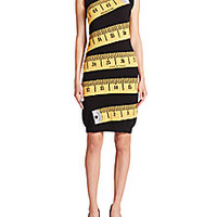Moschino - Measuring Tape Wool & Cashmere Knit Dress - Saks Fifth Avenue Mobile