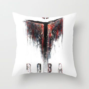 Boba Throw Pillow by HappyMelvin