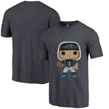 New Style Men's Summer T-Shirt, Panthers Fans Carolina 1 Cam Newton Cartoon Figure Picture Printing Classical O-neck T Shirt