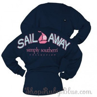 Simply Southern Sail Away Long Sleeve pocket Tee