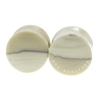 "Sahara Jasper Convex Stone Plugs (9/16"") #7656"