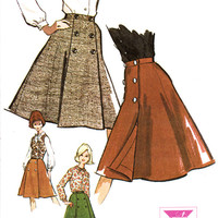 1960s Misses Wrap Skirt Blouse and Vest McCall's 7015 Womens Vintage Sewing Pattern Bust 34""