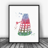 Doctor Who Dalek Art Print Poster