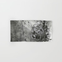 Last Time I Saw Paris Hand & Bath Towel by Theresa Campbell D'August Art