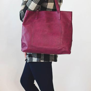 Megan Carry All Tote - Dark Raspberry