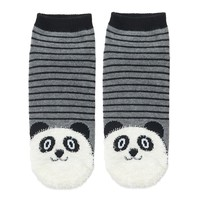Fuzzy Panda Stripe Socks