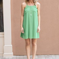 Bright Green Racer Back Dress - $75.00 | Hand In Pocket Boutique