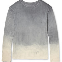 The Elder Statesman - Dyed Cotton and Cashmere-Blend T-Shirt | MR PORTER