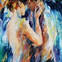 "Love — PALETTE KNIFE Figure Oil Painting On Canvas By Leonid Afremov - Size: 24"" x 36"" from afremov art"