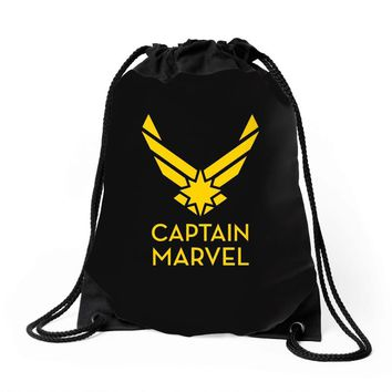 captain marvel 4 Drawstring Bags