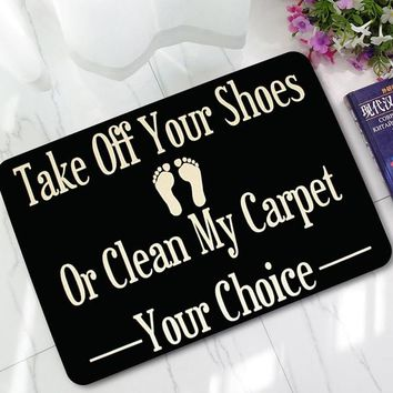 "New Halloween Doormats Funny Sign ""Take off your shoes"" Home Decorative Door Mats Magic Welcome Floor Mat Front Porch Rugs LYN21"