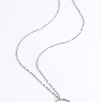Glisten To Me Pendant Necklace Silver