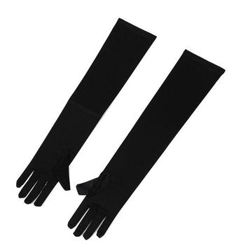 ac DCCKO2Q KSFS Elegant Pair of Sexy Long Gloves Black 50cm EMO PUNK party