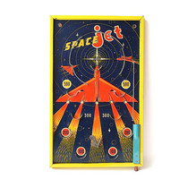 Bagatelle Game - Vintage Game - Retro Game - Tabletop Pinball Game - Space Age Decor - Game Room Decor - Space Jet Spear Enfield