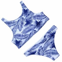 2017 New Design Print Bikini High Neck Swimsuit Swimwear Women Summer Bikini Brazilian Female Low Waist Mini Biquinis brasileiro -0307