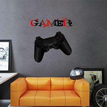 cik1107 Full Color Wall decal controller console Xbox 360 Game PS4 player bedroom teens
