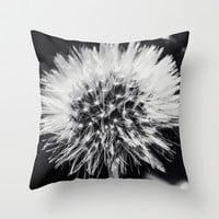 Dandelion Dream Throw Pillow by Ia Loredana