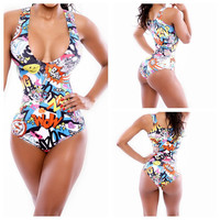 Women One Piece Bandage Monokini Swimsuit