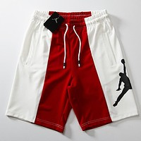 Jordan Fashion Women Men Loose White/Red Color Matching Print Sports Running Shorts I-CP-ZDL-YXC