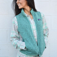 Patagonia Women's Better Sweater Fleece Vest- Beryl Green