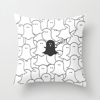 Little Ghost Throw Pillow by Louise Machado