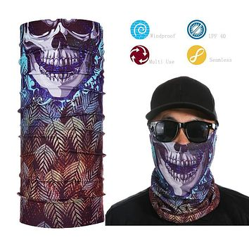 Tactical Headwear Seamless Skull Face Shield Multi-purpose Bandana