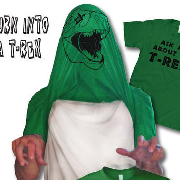 Ask me about my trex shirt dinosaur t shirt by CrazyDogTshirts