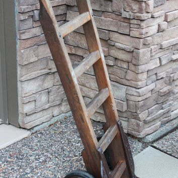 Vintage NUTTING Hand Truck Cart, Industrial Cart, Two Wheel Cart
